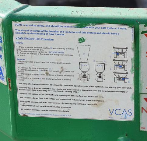 VCAS 200 Site Dumper Ultrasonic Detection - vcas 6