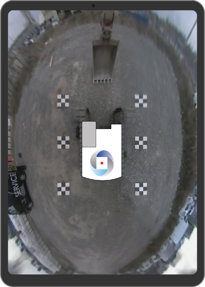360° Surround view Birds Eye camera system - Asset ipad exc1 100