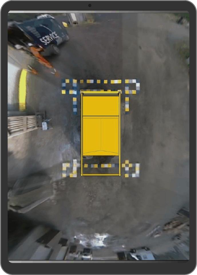 360° Surround View Bird's-eye Camera System - Asset ipad rdt2 100