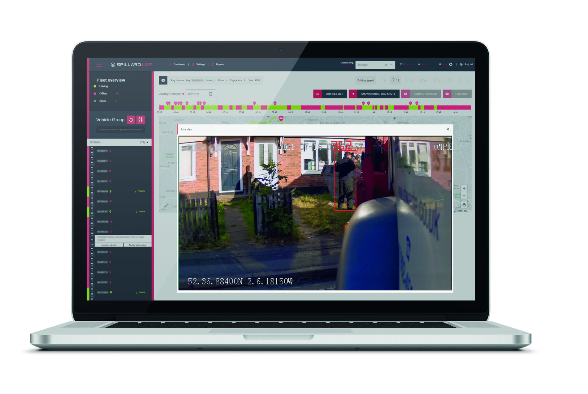 Spillard Human Detection System is the technological answer to safer driver and pedestrian co-existence. - SPILL Laptop HDS visual 1 in garden@72dpi